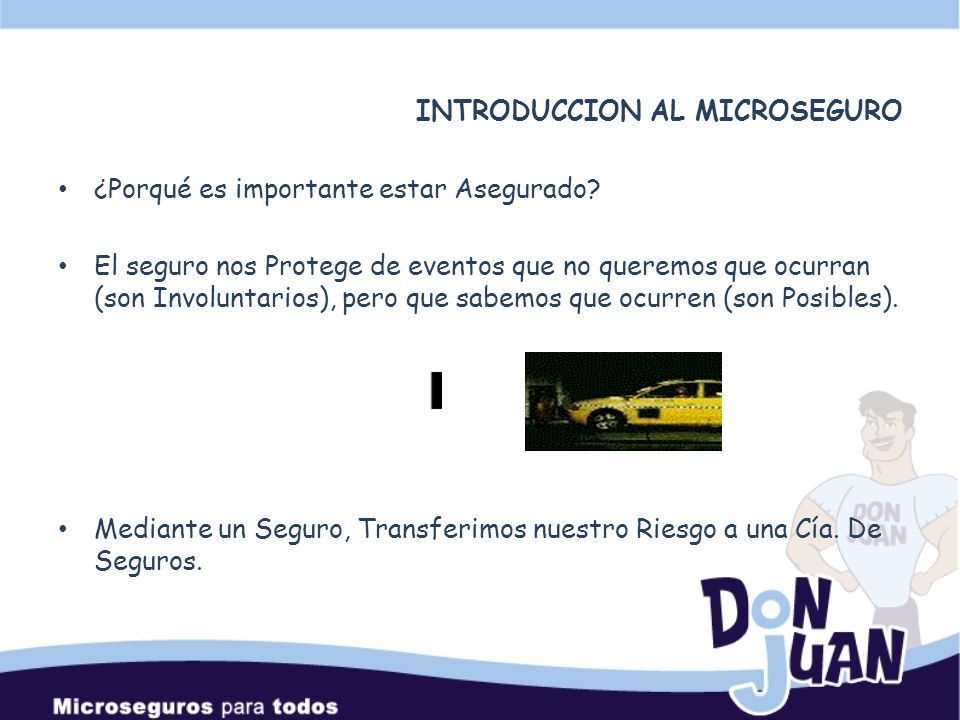 INTRODUCCION AL MICROSEGURO