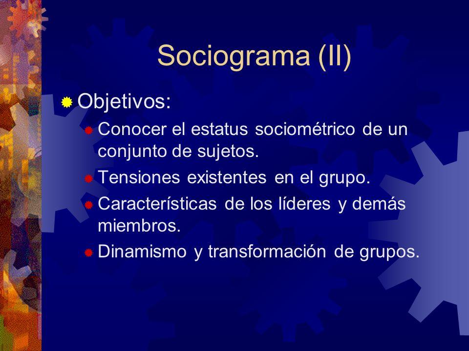 Sociograma (II) Objetivos: