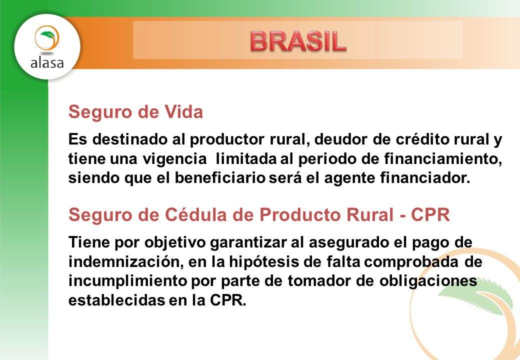 BRASIL Seguro de Vida Seguro de Cédula de Producto Rural - CPR