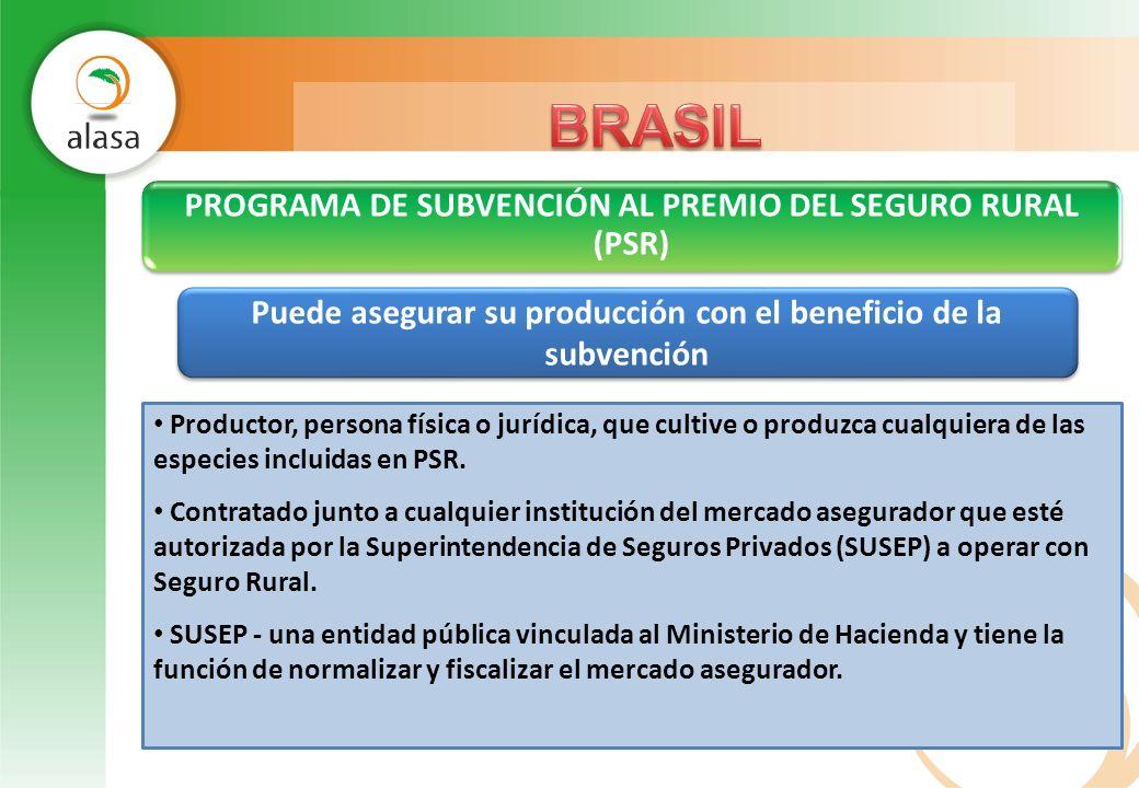 PROGRAMA DE SUBVENCIÓN AL PREMIO DEL SEGURO RURAL (PSR)