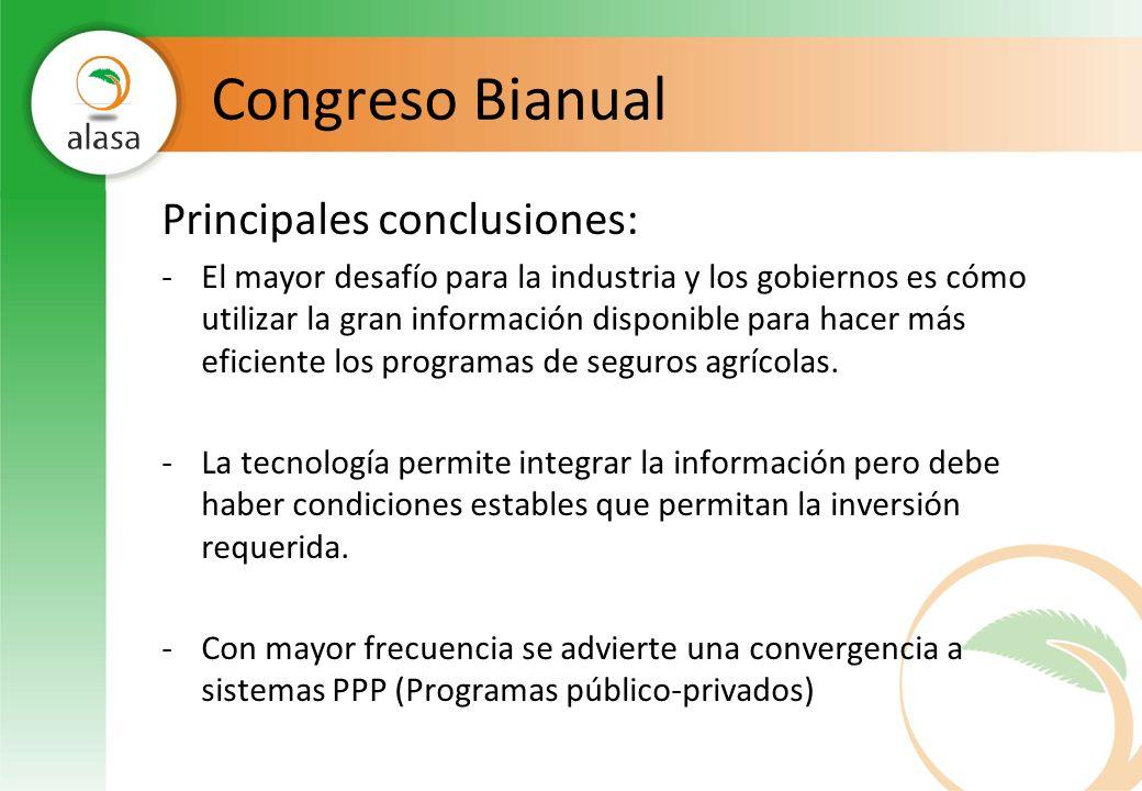 Congreso Bianual Principales conclusiones: