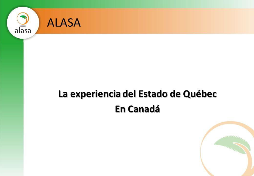 La experiencia del Estado de Québec En Canadá