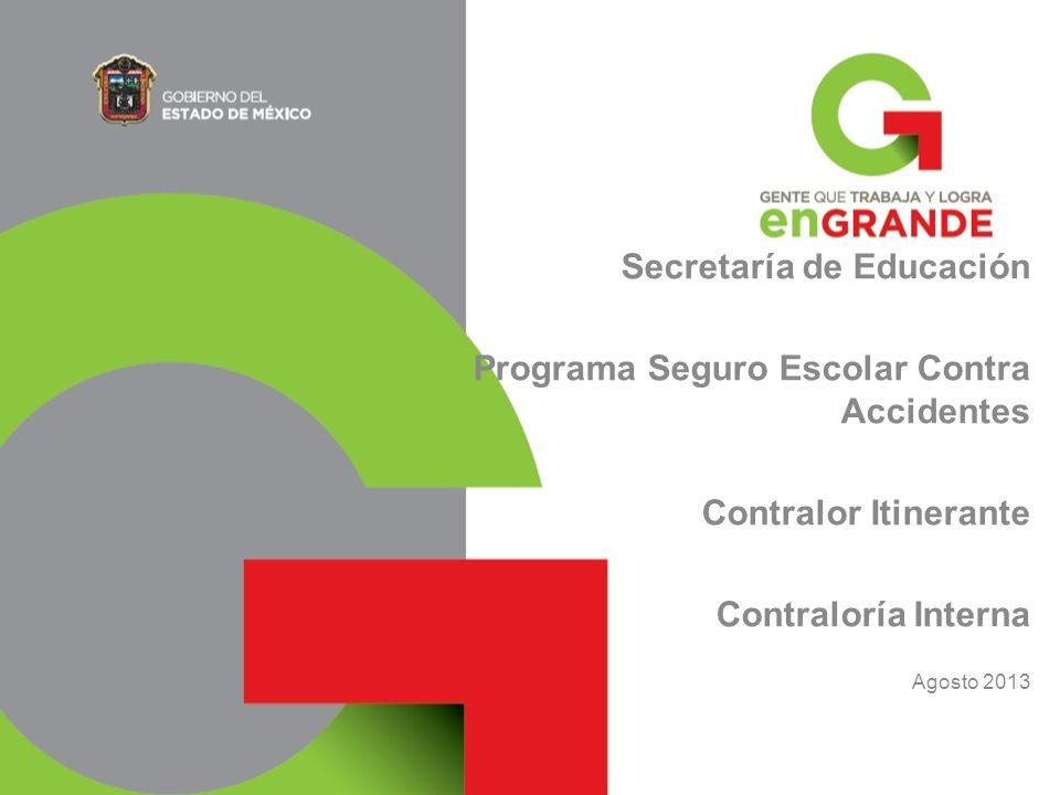 Secretaría de Educación Programa Seguro Escolar Contra Accidentes