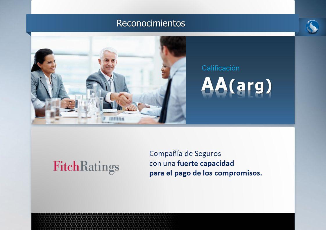 AA(arg) Reconocimientos Compañía de Seguros con una fuerte capacidad