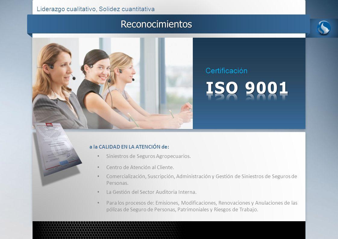 ISO 9001 Reconocimientos Certificación