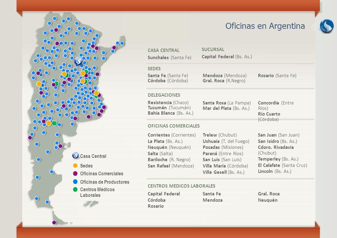 Oficinas en Argentina CASA CENTRAL Sunchales (Santa Fe) SUCURSAL