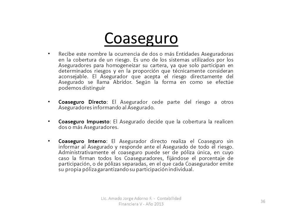 Lic. Amado Jorge Adorno F. - Contabilidad Financiera V - Año 2013