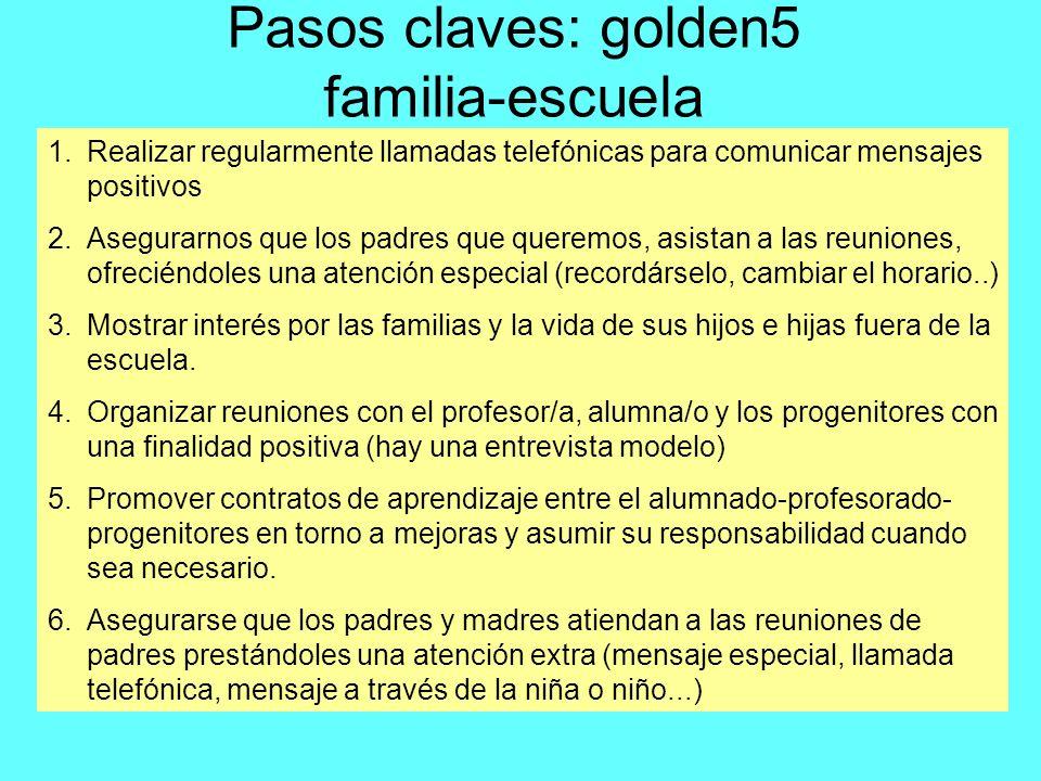 Pasos claves: golden5 familia-escuela
