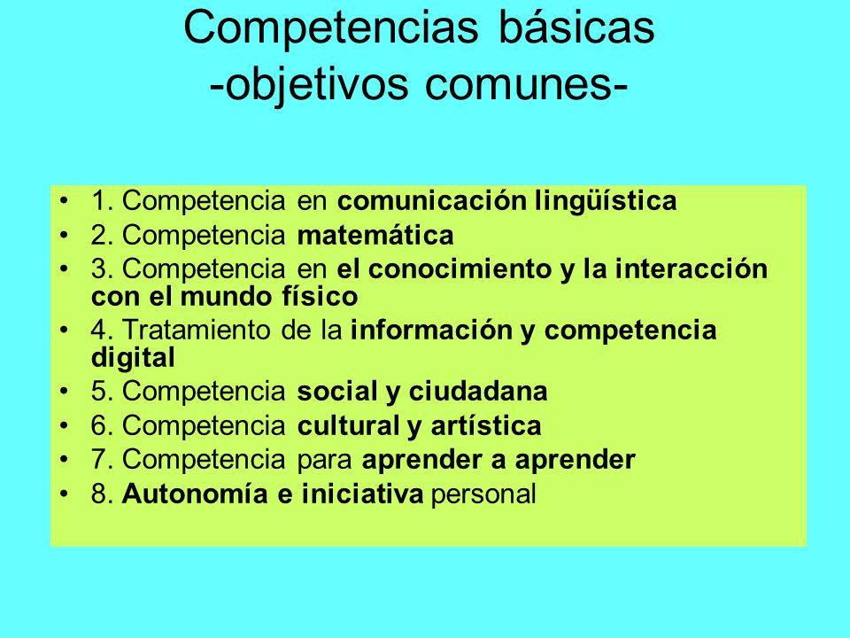 Competencias básicas -objetivos comunes-