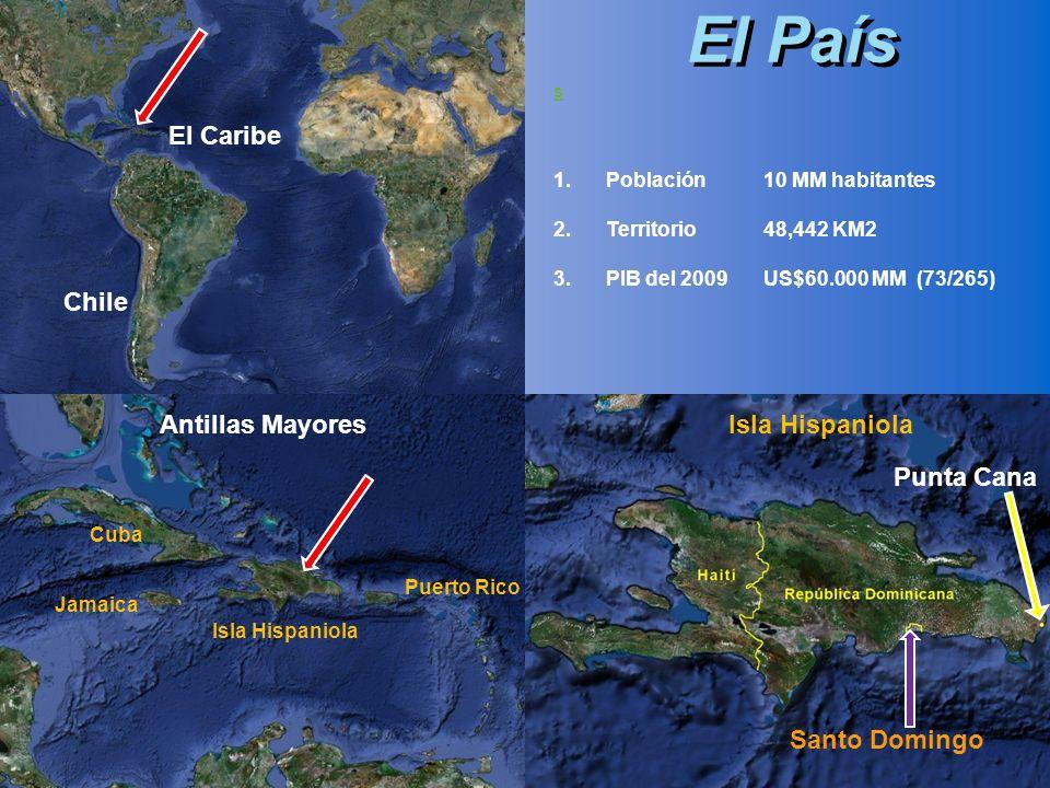 El País El Caribe Chile Antillas Mayores Isla Hispaniola Punta Cana