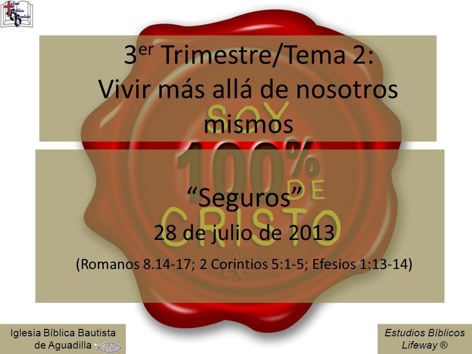 3er Trimestre/Tema 2: Vivir más allá de nosotros mismos