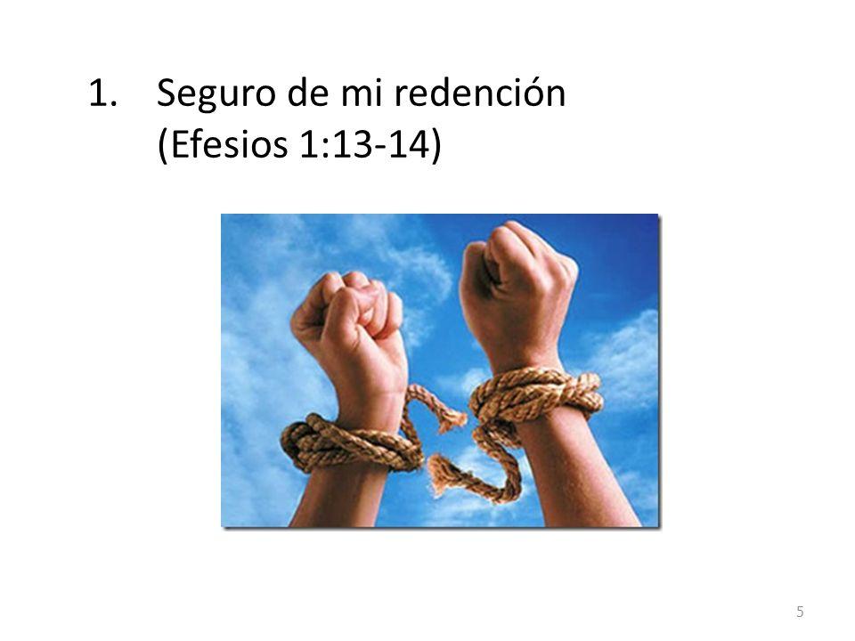 Seguro de mi redención (Efesios 1:13-14)