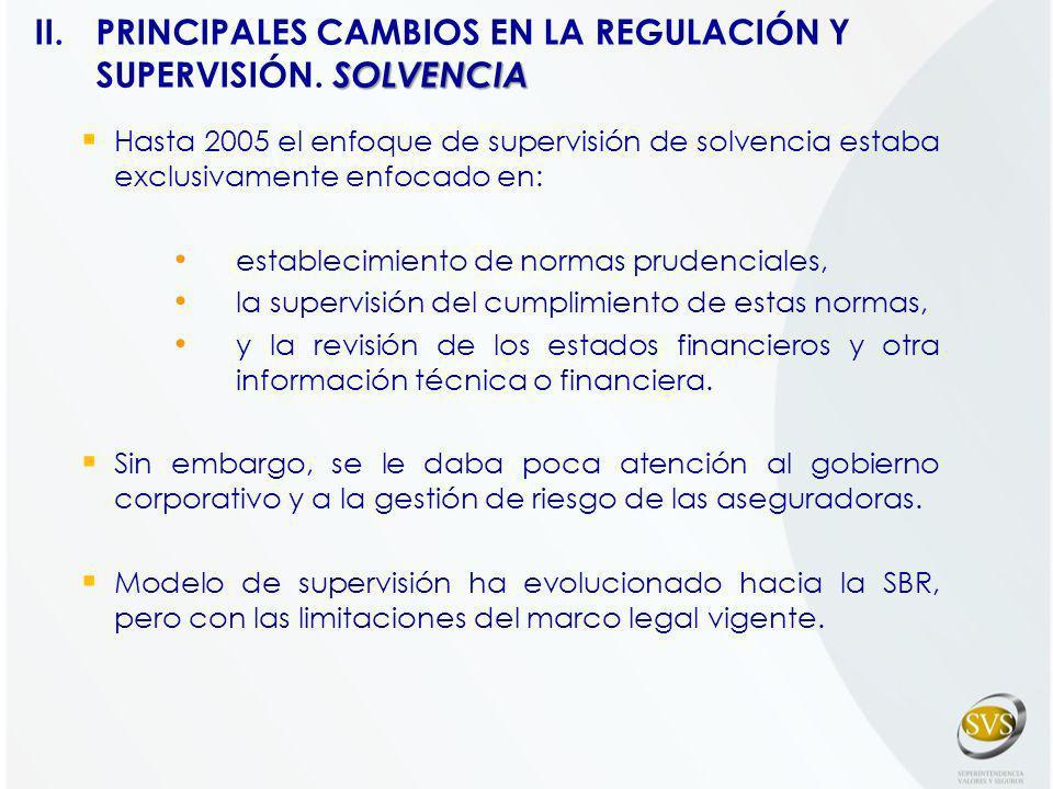 II. PRINCIPALES CAMBIOS EN LA REGULACIÓN Y SUPERVISIÓN. SOLVENCIA