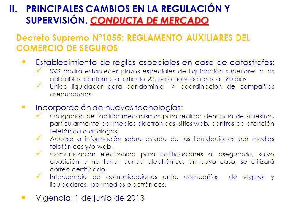 II. PRINCIPALES CAMBIOS EN LA REGULACIÓN Y SUPERVISIÓN