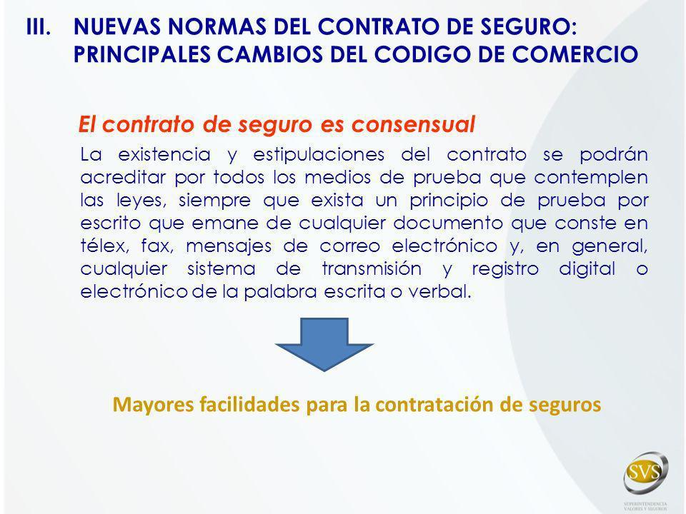 El contrato de seguro es consensual