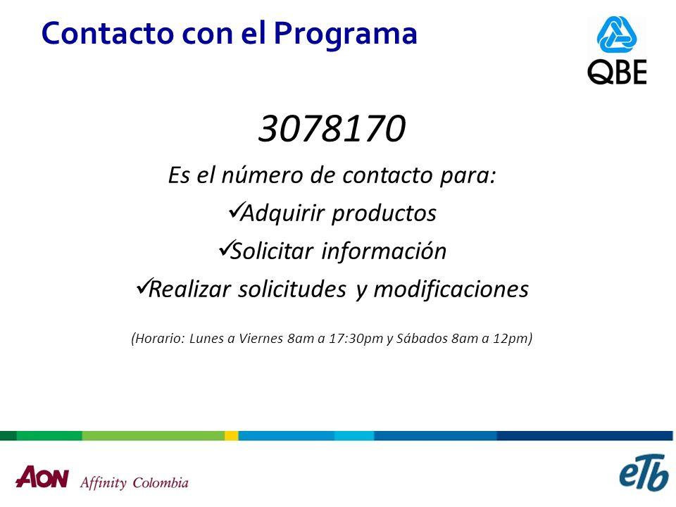 Contacto con el Programa