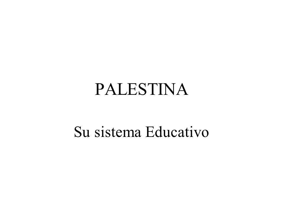 PALESTINA Su sistema Educativo
