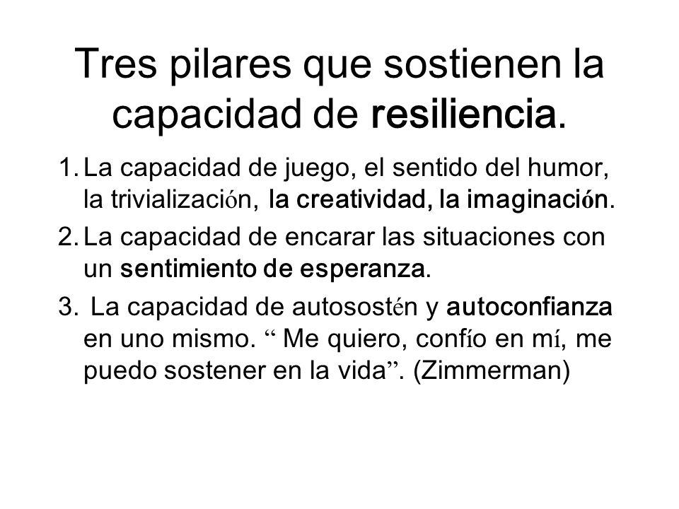 Tres pilares que sostienen la capacidad de resiliencia.