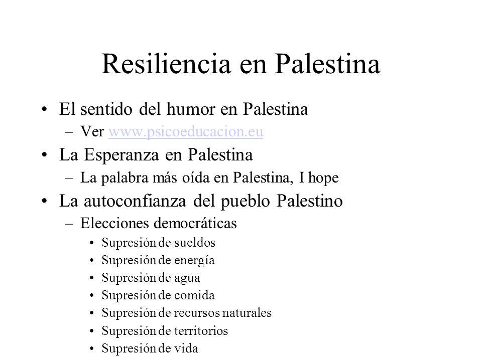 Resiliencia en Palestina