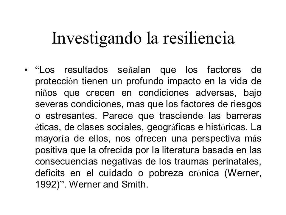 Investigando la resiliencia