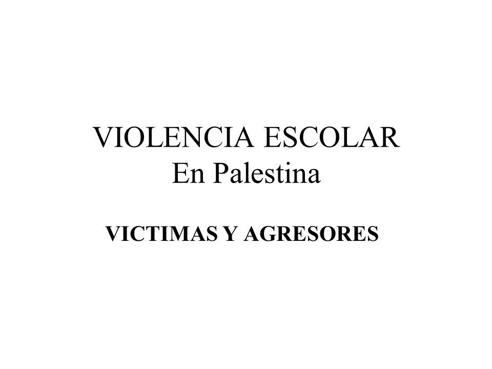 VIOLENCIA ESCOLAR En Palestina