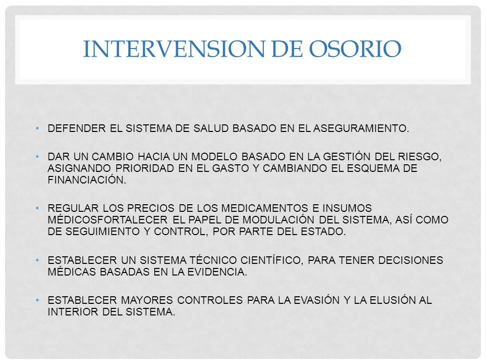 INTERVENSION DE OSORIO
