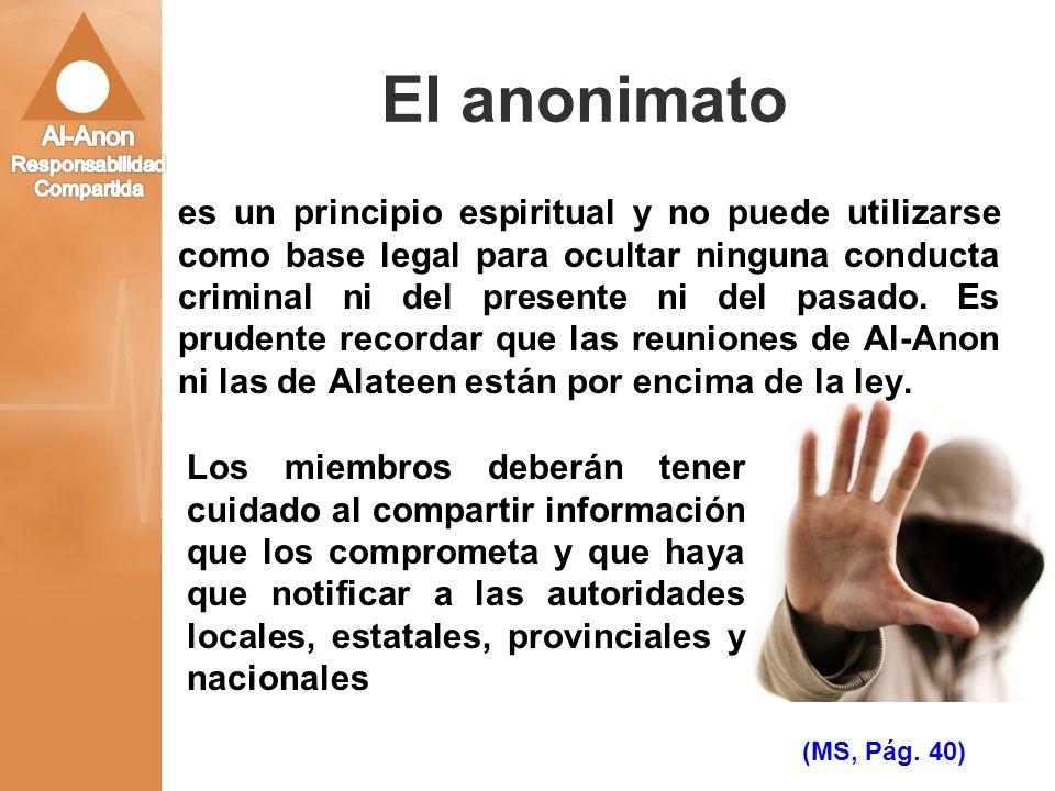 El anonimato
