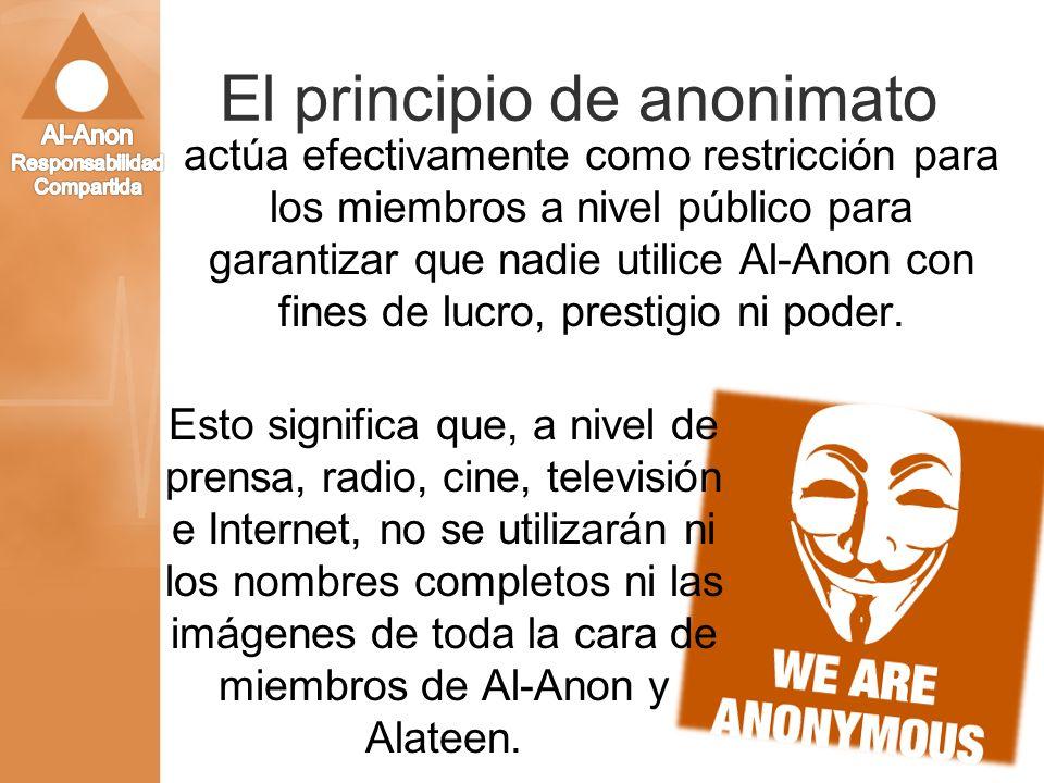 El principio de anonimato