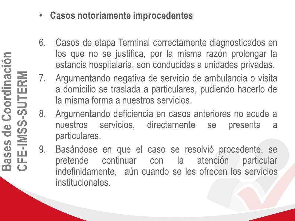 Bases de Coordinación CFE-IMSS-SUTERM