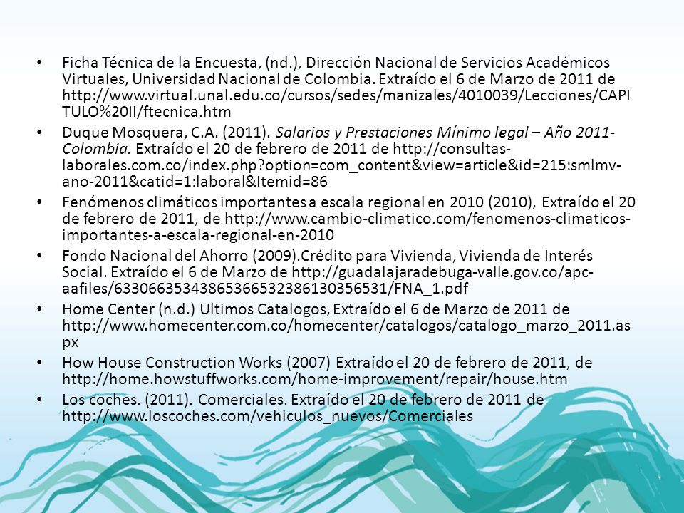 Ficha Técnica de la Encuesta, (nd