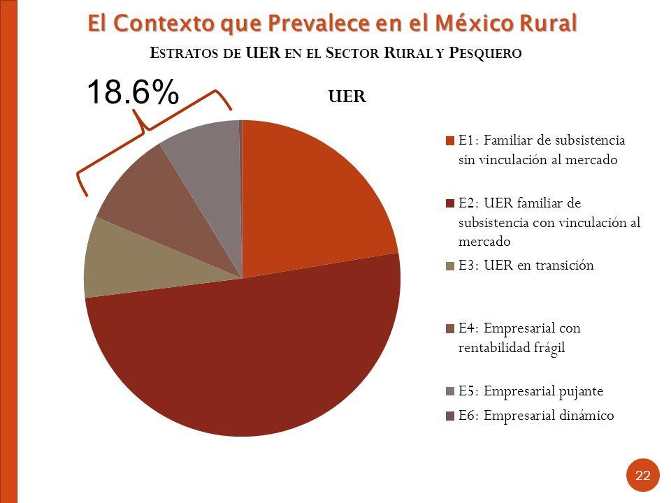 18.6% El Contexto que Prevalece en el México Rural