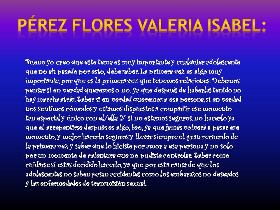 Pérez Flores Valeria Isabel: