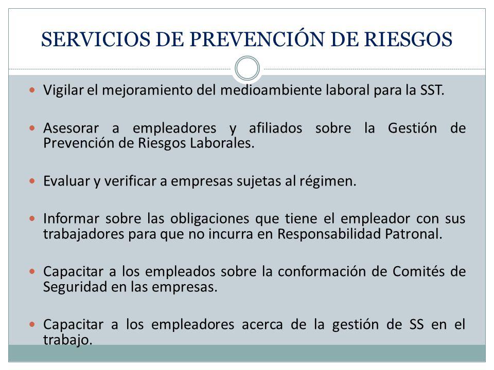 SERVICIOS DE PREVENCIÓN DE RIESGOS