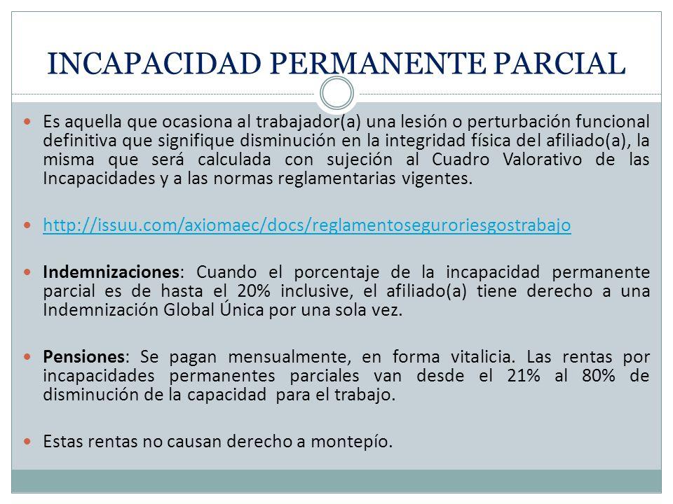 INCAPACIDAD PERMANENTE PARCIAL