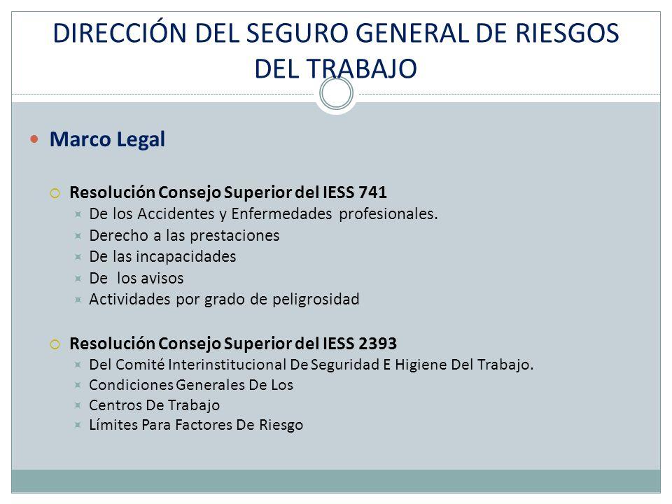DIRECCIÓN DEL SEGURO GENERAL DE RIESGOS DEL TRABAJO