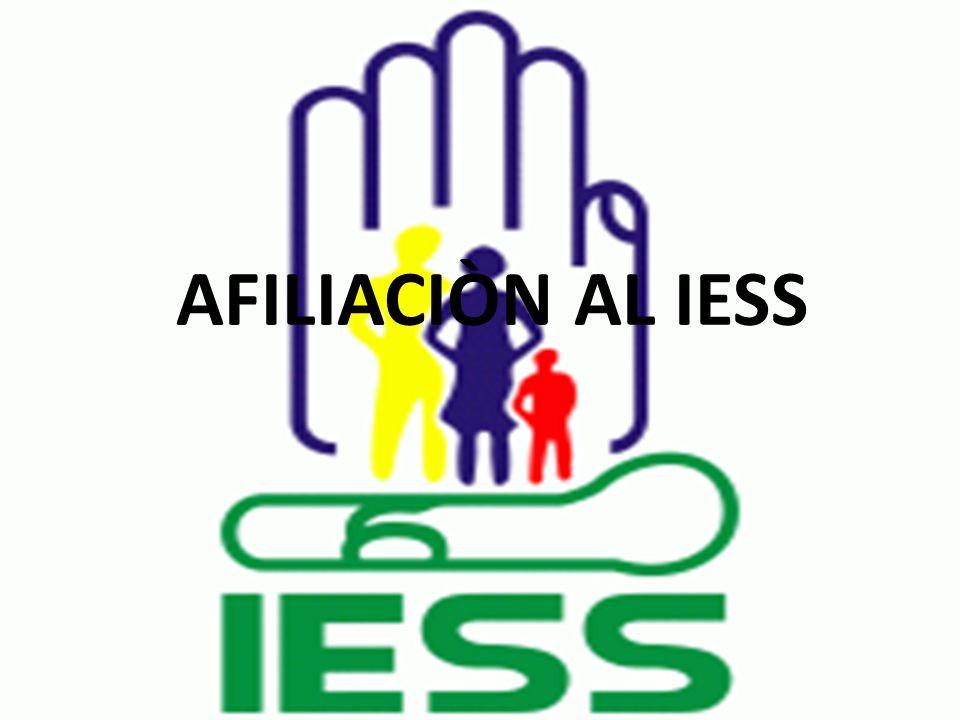 AFILIACIÒN AL IESS