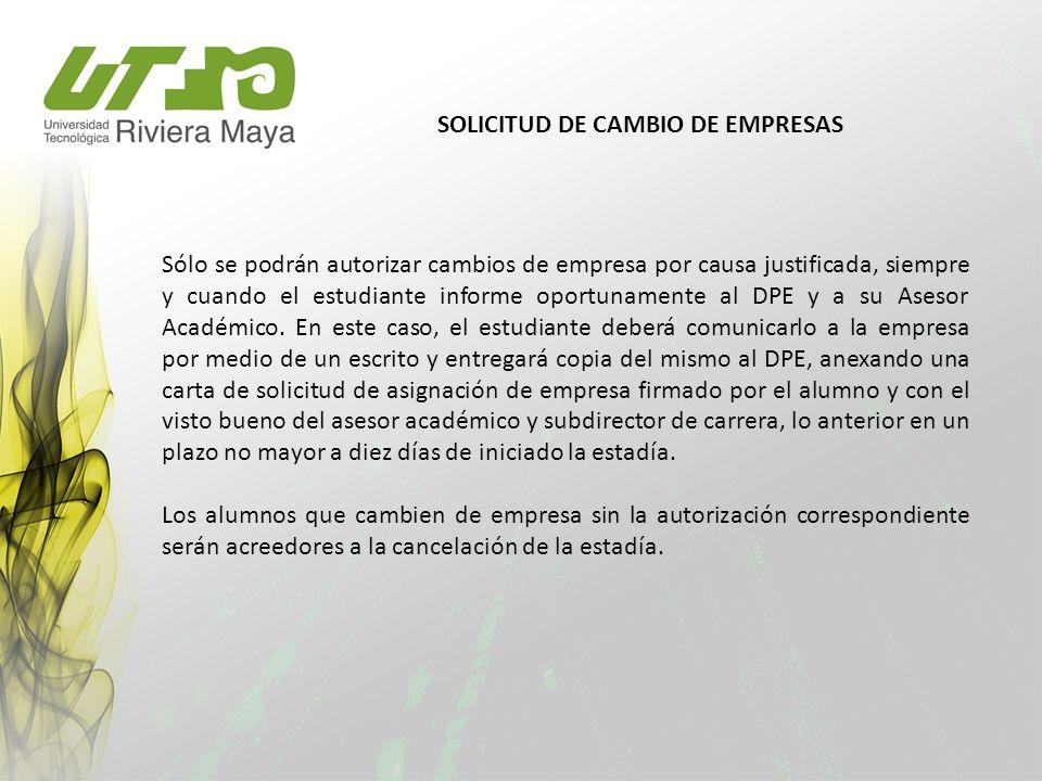 SOLICITUD DE CAMBIO DE EMPRESAS