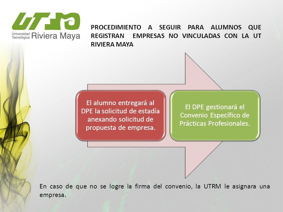 El DPE gestionará el Convenio Específico de Prácticas Profesionales.