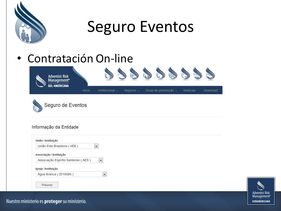 Seguro Eventos Contratación On-line