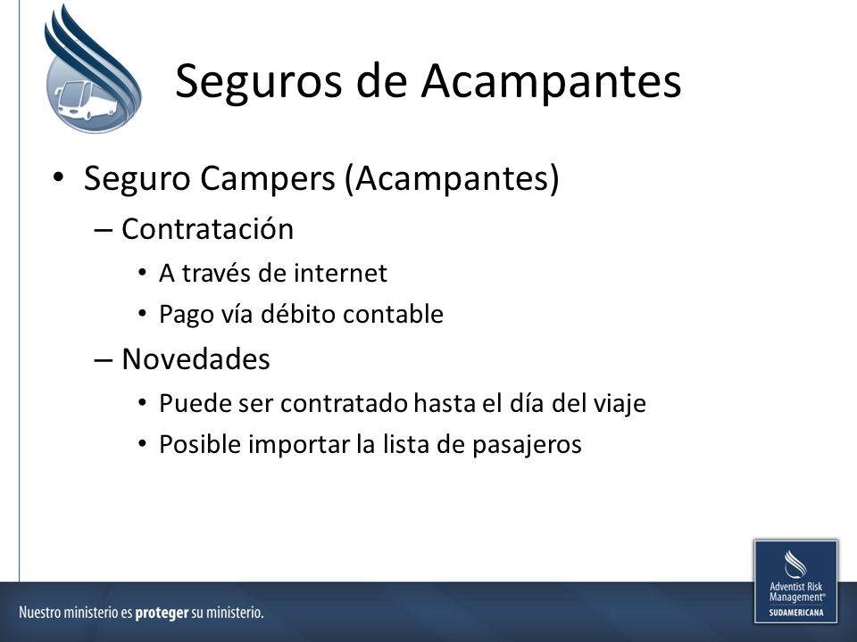 Seguros de Acampantes Seguro Campers (Acampantes) Contratación