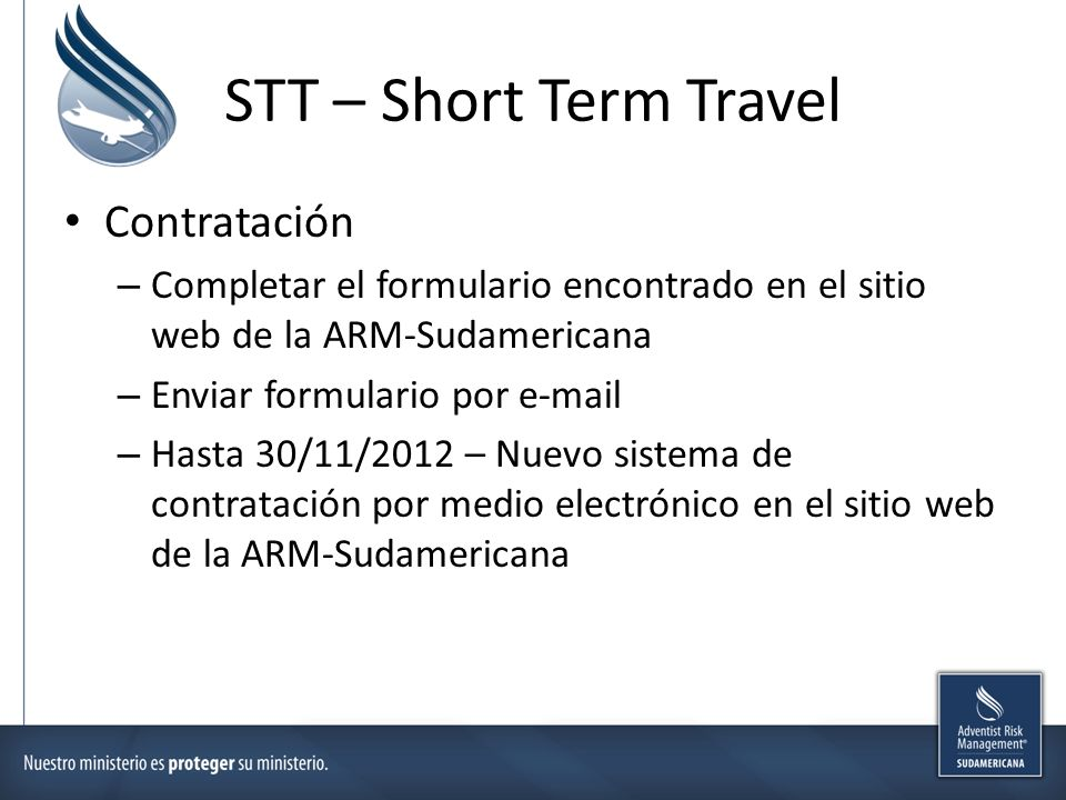 STT – Short Term Travel Contratación