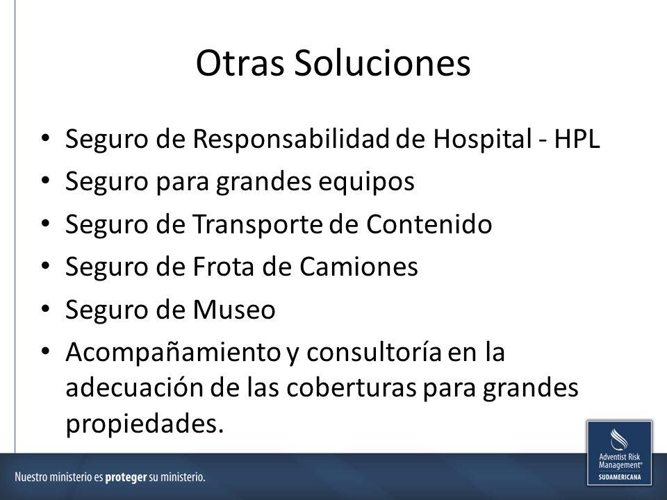 Otras Soluciones Seguro de Responsabilidad de Hospital - HPL