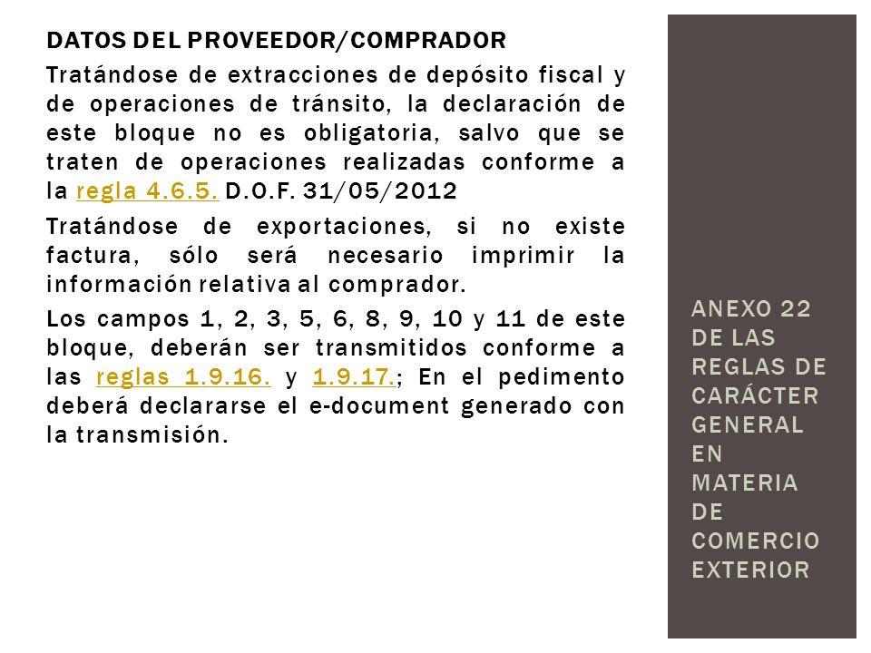 DATOS DEL PROVEEDOR/COMPRADOR