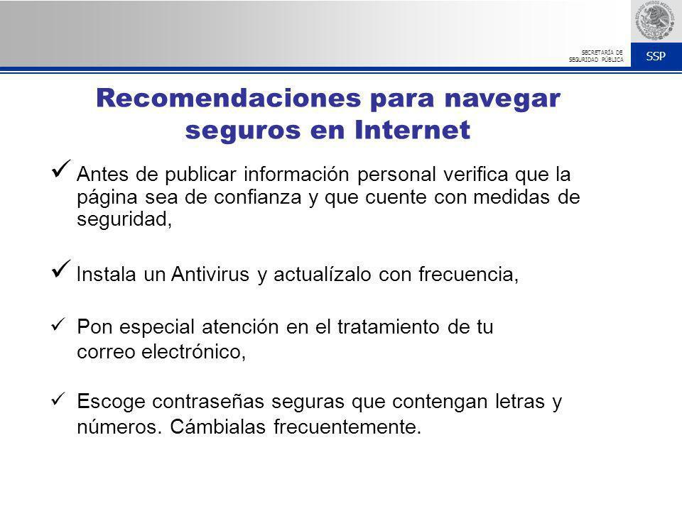 Recomendaciones para navegar seguros en Internet