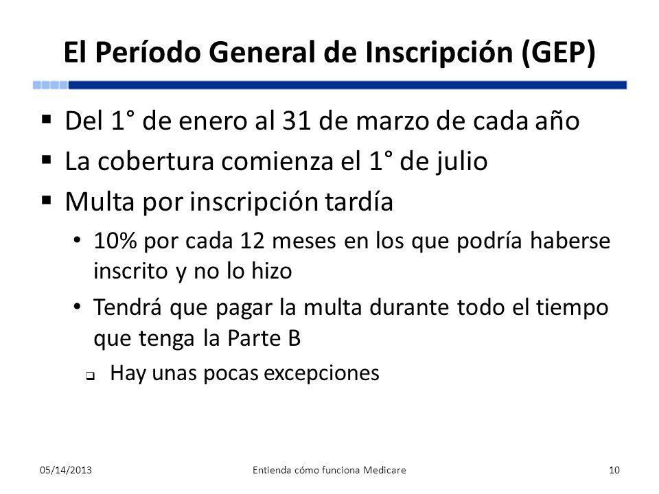 El Período General de Inscripción (GEP)
