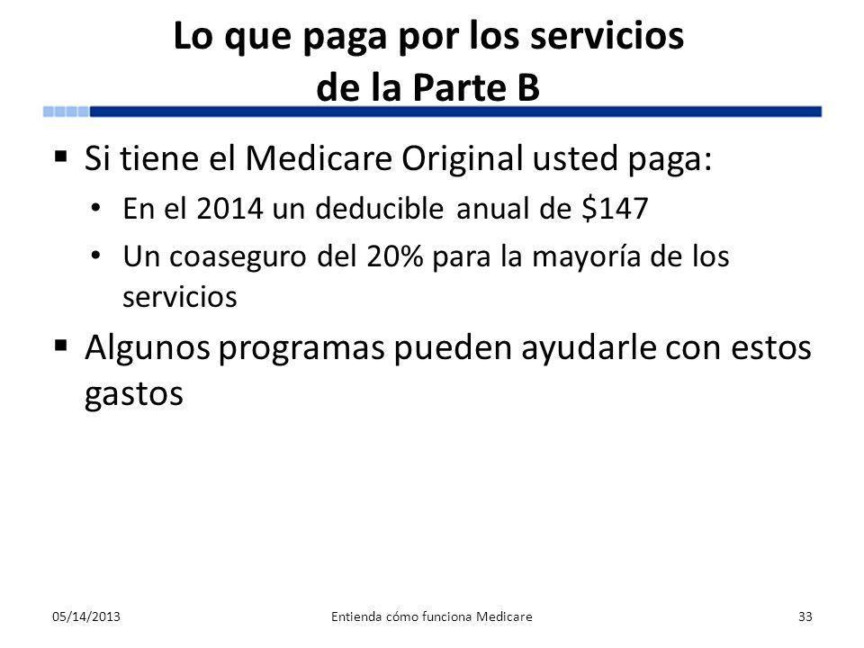 Lo que paga por los servicios de la Parte B