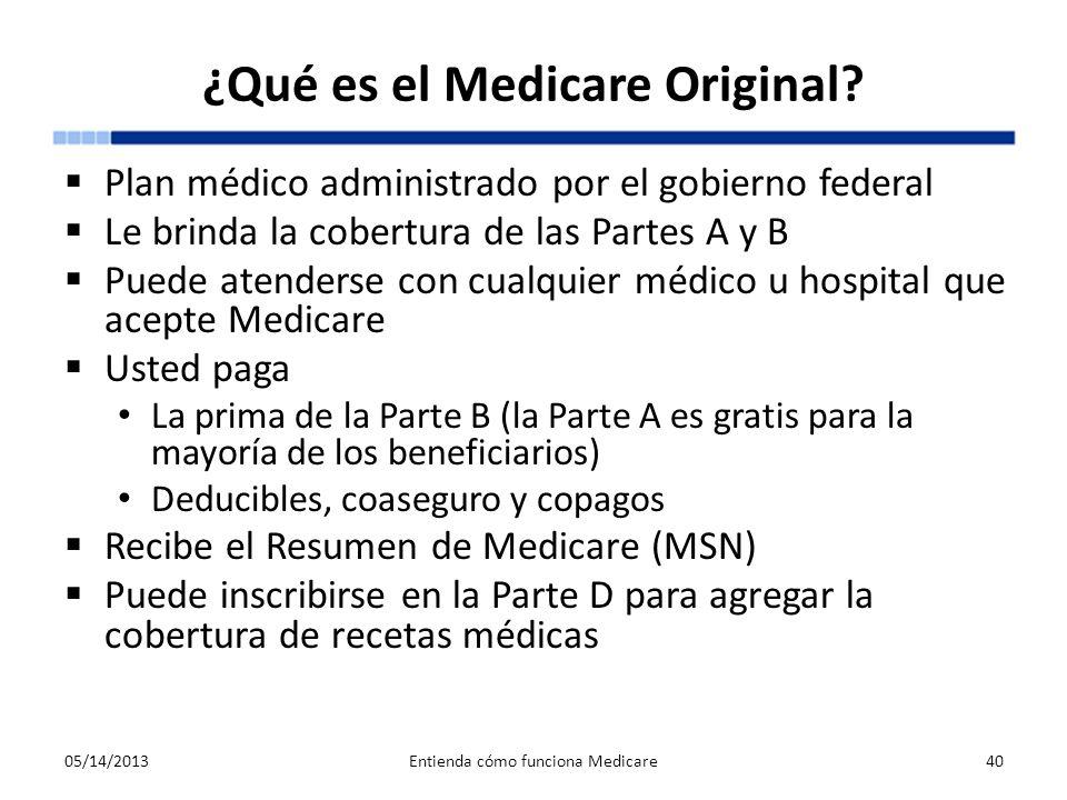 ¿Qué es el Medicare Original