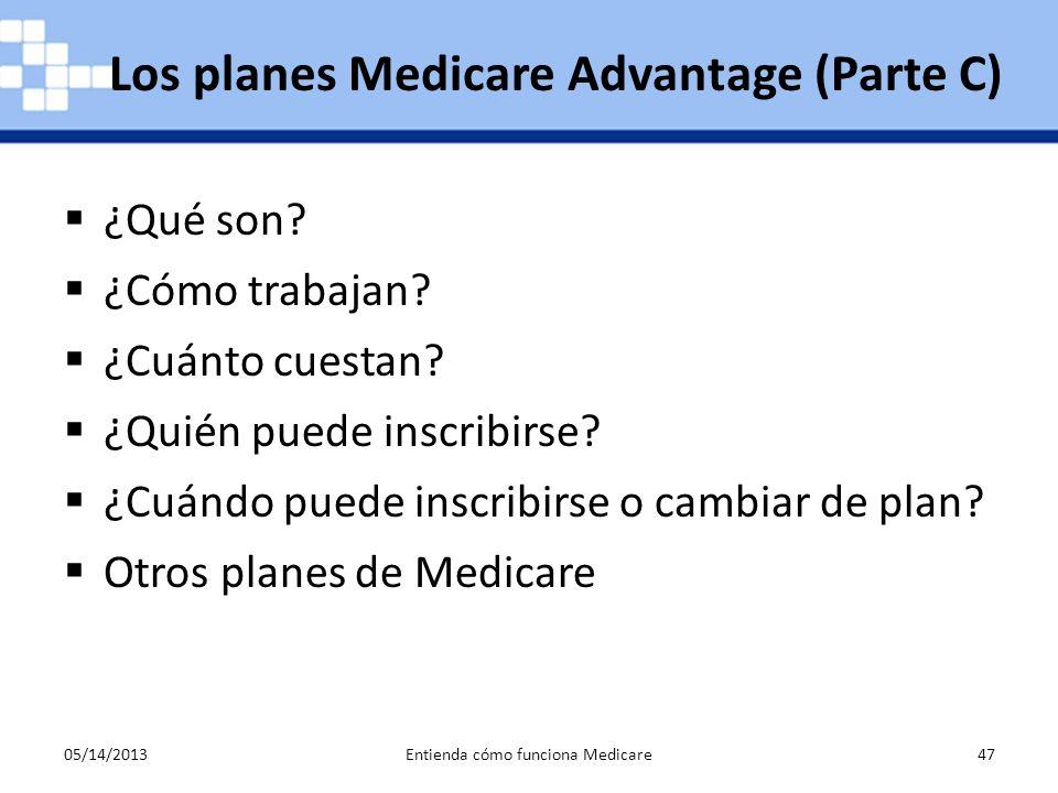Los planes Medicare Advantage (Parte C)