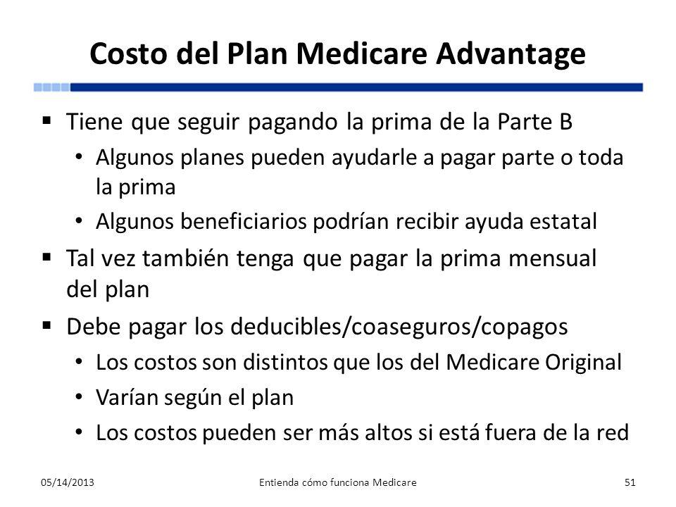 Costo del Plan Medicare Advantage