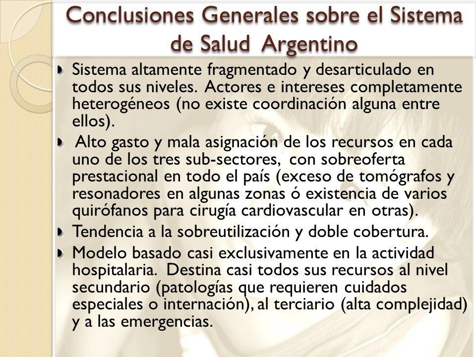 Conclusiones Generales sobre el Sistema de Salud Argentino